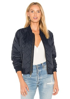 Vince Quilted Bomber in Navy. - size L (also in M,S)