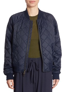 Vince Quilted Nylon Bomber Jacket