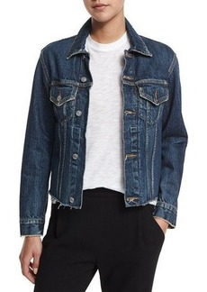Vince Raw-Edge Denim Jacket