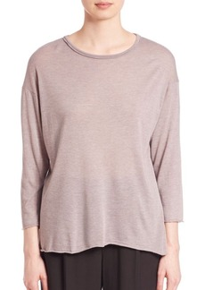 Vince Raw-Edge Knit Top