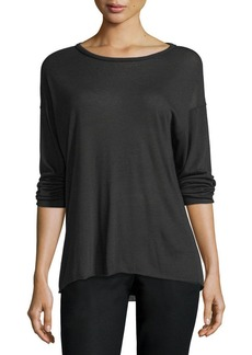 Vince Raw-Edge Long-Sleeve Jersey Top