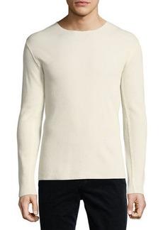 Vince Raw-Edge Long-Sleeve T-Shirt