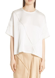 Vince Raw Edge Silk Tee
