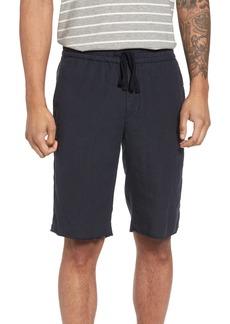Vince Raw Hem Slim Fit Track Shorts