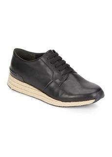 Vince Rayner-3 Leather & Jute Sneakers