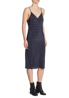 Refined Dot Silk Slip Dress