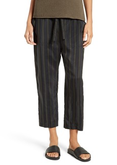 Vince Regiment Stripe Tie Waist Crop Pants