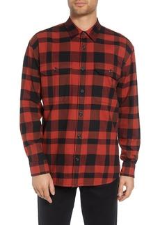 Vince Regular Fit Buffalo Plaid Sport Shirt