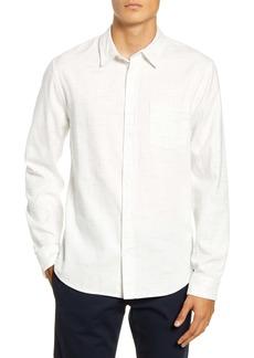 Vince Regular Fit Button-Up Flannel Shirt