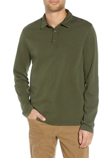 Vince Regular Fit Garment Dye Long Sleeve Polo