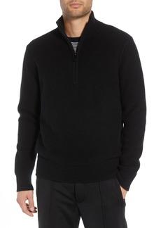 Vince Slim Fit Half Zip Cashmere Sweater