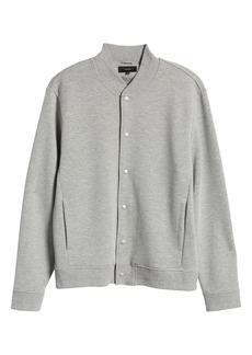Vince Regular Fit Knit Bomber Jacket