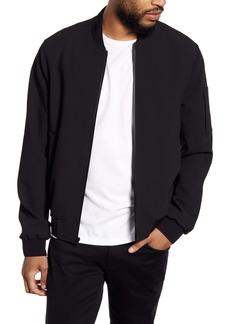 Vince Regular Fit Knit Bomber Jacket