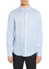 Vince Slim Fit Linen Sport Shirt