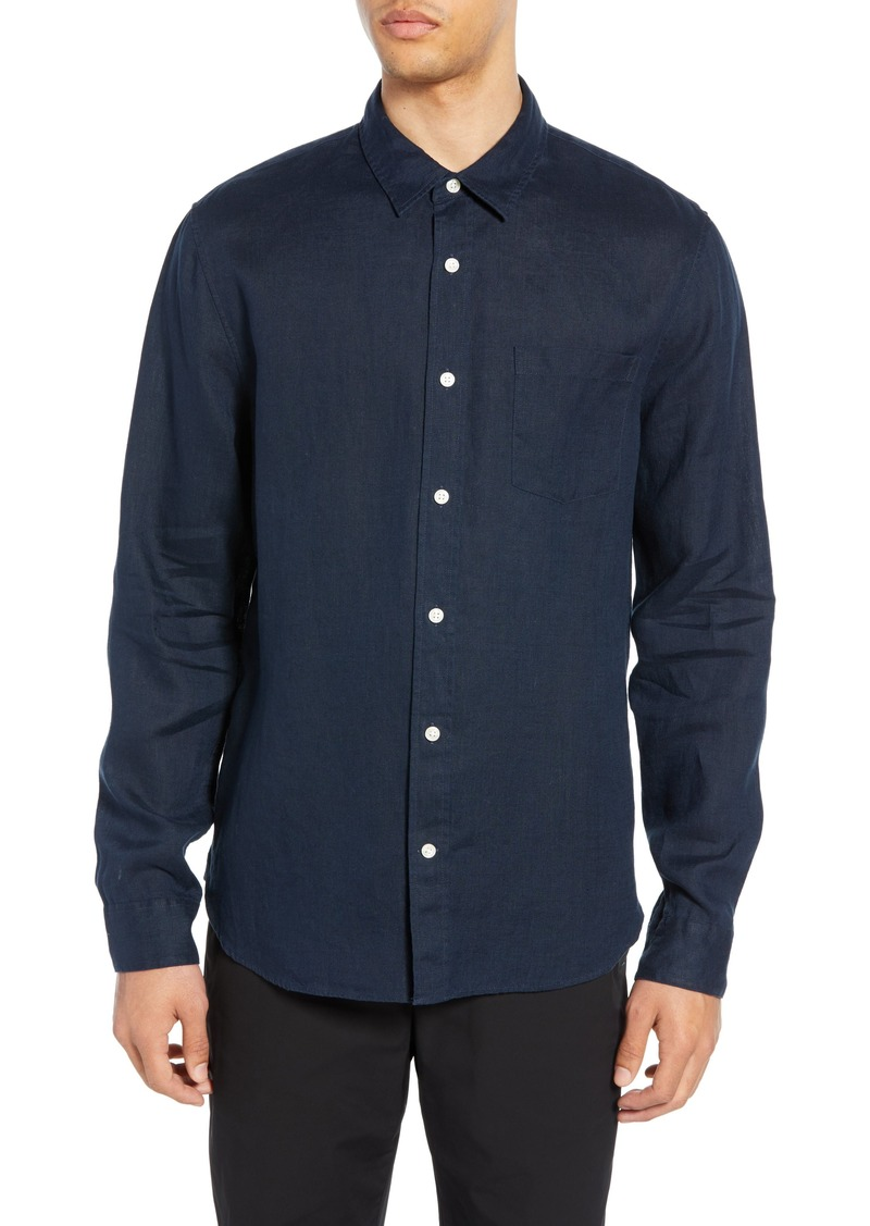 Vince Slim Fit Linen Shirt