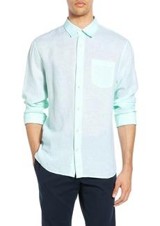 Vince Slim Fit Linen Sport Shirt