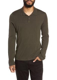 Vince Slim Fit Long Sleeve Wool & Cashmere Polo