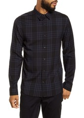 Vince Regular Fit Plaid Button-Up Shirt