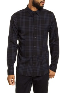 Vince Regular Fit Plaid Button-Up Shirt