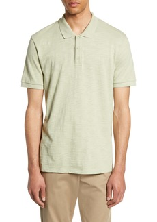 Vince Regular Fit Slub Jersey Polo