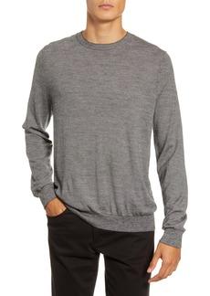 Vince Regular Fit Stripe Crewneck Wool & Cashmere Sweater