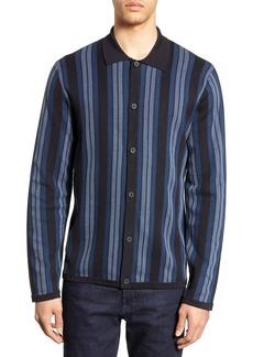 Vince Slim Fit Stripe Knit Shirt