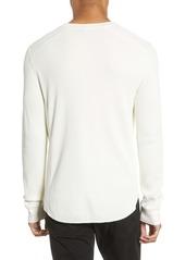 Vince Regular Fit Thermal Knit Crewneck Sweatshirt