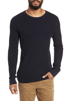 Vince Regular Fit Waffle Knit Cotton Blend Crewneck T-Shirt