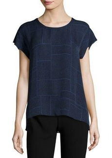 Vince Relaxed Dotted Silk Top