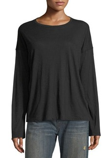 Vince Relaxed Long-Sleeve Cotton Top