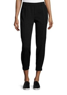 Vince Relaxed Satin Piped Trousers