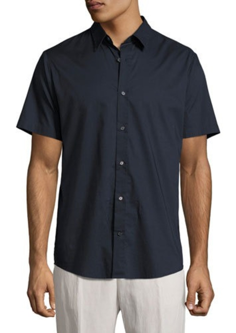 Cheap Price Original Vince Reverse-Placket Short-Sleeve Shirt Comfortable Sale Online Cheap Sale Cheap Good Selling Sale Online Hot Sale Online Ys9Dao