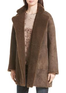 Vince Reversible Teddy Genuine Shearling Coat