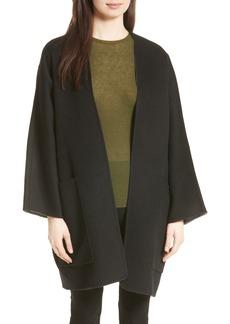 Vince Reversible Wool & Cashmere Clutch Coat