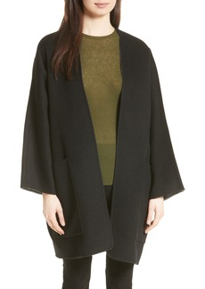 Vince Reversible Wool & Cashmere Clutch Coat