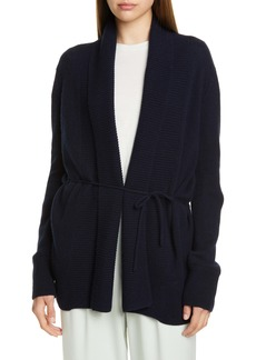 Vince Rib Front Wool & Cashmere Cardigan