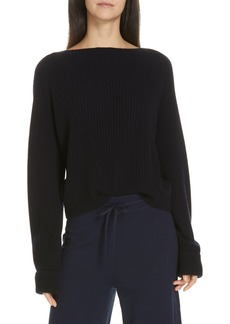 Vince Ribbed Bateau Neck Sweater