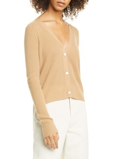 Vince Ribbed Cashmere Cardigan Sweater