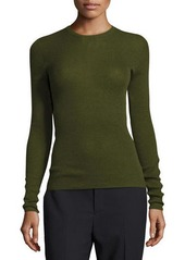 Vince Ribbed Cashmere Crewneck Sweater