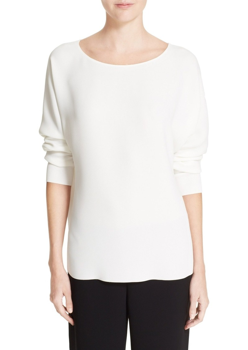 Vince Ribbed Cuff Dolman Sleeve Blouse