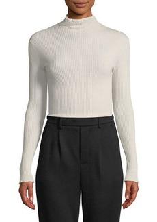 Vince Ribbed Lettuce-Edge Turtleneck Sweater
