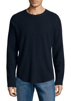 Vince Ribbed Long-Sleeve Shirt