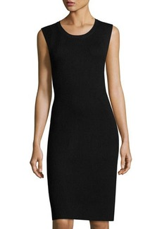 Vince Ribbed Sleeveless Sweater Dress