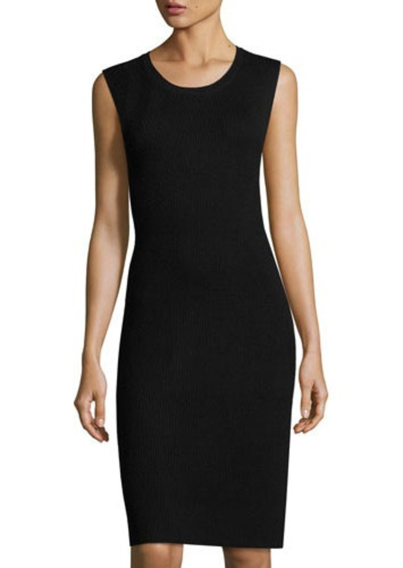 Vince Vince Ribbed Sleeveless Sweater Dress Dresses