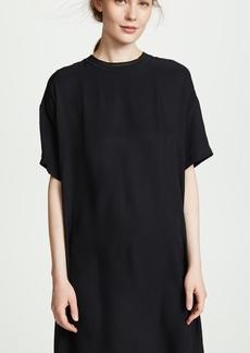 Vince Ribbed Trim T-Shirt Dress