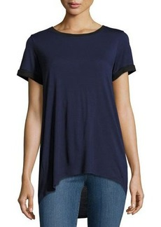 Vince Rolled-Sleeve High-Low Tee