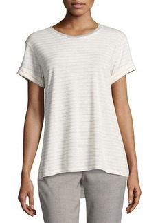 Vince Rolled-Sleeve Speed-Stitch Tee