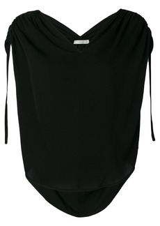 Vince ruchéd V-neck blouse - Black