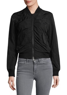 Vince Ruched Bomber Jacket