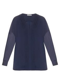Vince V-neck satin blouse